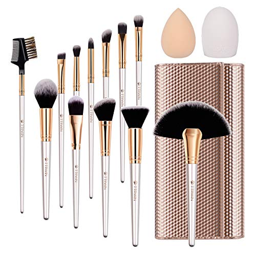 TTRWIN Make Up Pinsel Set 12pcs Professionelles Kosmetikpinseln Beauty Makeup Brush. Kosmetik Kabuki...