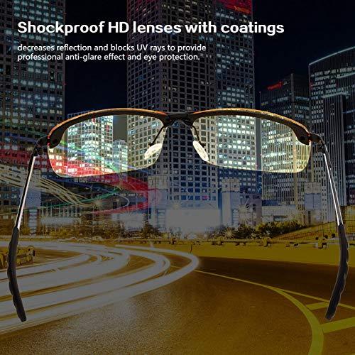 01 Gafas de Sol antideslumbrantes de visión Nocturna polarizadas, Gafas antideformación, portátiles para Hombres en Bicicleta para Conducir Mujeres