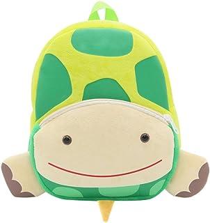 Mochilas Infantiles Felpa Bolsas Escolares de Dibujos Animados Animal (Tortuga)