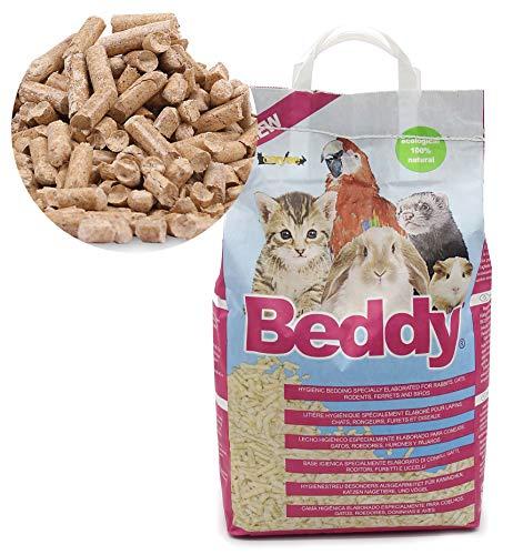 BPS 10L Lecho Higienico Virutas de Madera para Mascotas Serrín para Gato Animales Pequeños Hámster Conejo Loro Ardilla Erizo (Modelo 1)