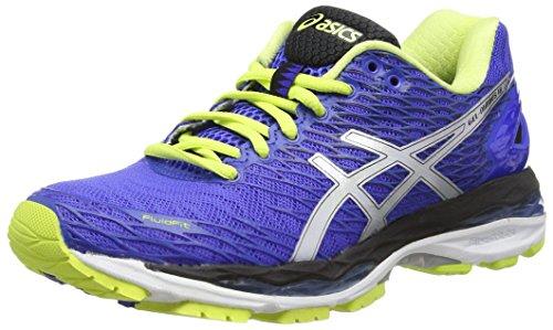 ASICS Gel-Nimbus 18 (Rio), Zapatillas de Running, Azul (Blue Purple/Silver/Sunny Lime), 35.5 EU