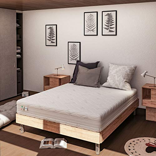 Baldiflex Materasso Matrimoniale Memory Plus Top Air Misura 160 x 190 x 25 cm Ergonomico 7 Zone Differenziate Sfoderabile Silver Safe Cuscino Incluso