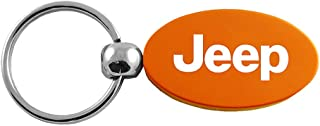 Jeep Orange Aluminum Oval Key Chain