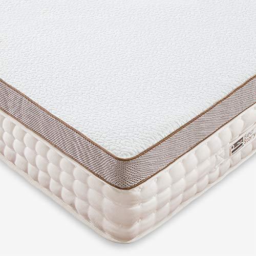 BedStory Matratzenauflage aus Memory-Schaum, ergonomischer Matratzenauflage, abnehmbarer und waschbar, hypoallergen, optimale Unterstützung, sehr komfortabel, 140 x 190 cm