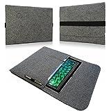 NAUC Hülle für i.onik Global Tab W11651 Tasche Notebook Filz Cover Hülle Sleeve Grau