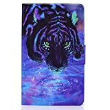 JCTek Funda protectora para tablet Huawei Matepad T8 (8.0 pulgadas) 2020 Release Piel PU Flip Flip Flip Stand Cover Relieve Elefante Case (Star Lion)