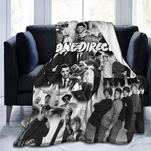 maichengxuan One_Direction - Manta de franela de forro polar suave, cálida y ligera para dormitorio, sofá cama, viaje y camping, 127 x 101 cm