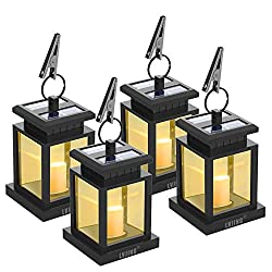 Set of four outside garden lamps.