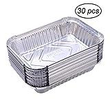 Yardwe 30 Pezzi Vaschette Alluminio per Barbecue Grill all'aperto Vassoi per Grigliare per...