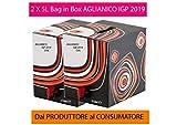 Confezione 2 Bag in Box da 5 L di VINO AGLIANICO IGP IGT bag rosso CAMPANIA 13% Sfuso da Azienda Agricola