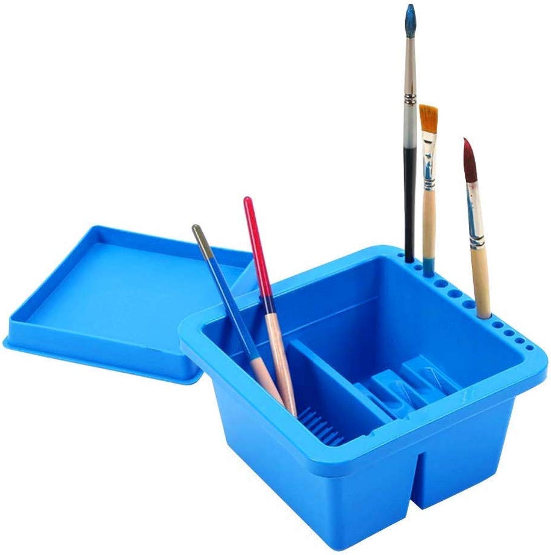 KMCY Pen Holder Multifunction Paint Brush Pen Holders Tub with Brush Holder Brush Basin