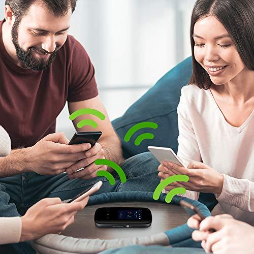 ZyXEL 4G LTE-A Mobile WiFi Hotspot, Download-Geschwindigkeit bis zu 300 Mbit/s, Dual-Band WLAN für bis zu 32 Geräte, Akkulaufzeit für den ganzen Tag [LTE2566-M634]