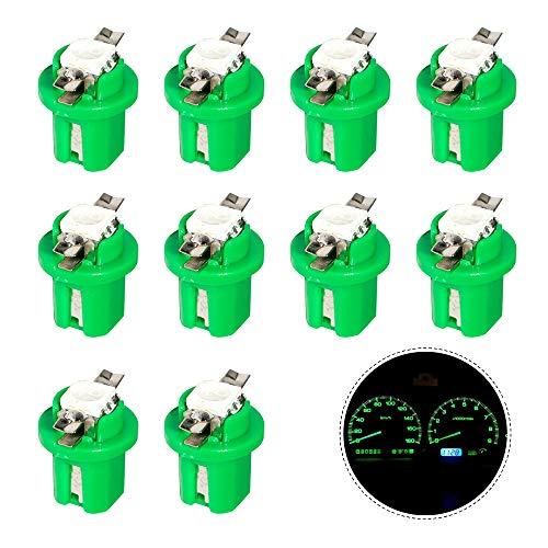 HopeU5® 10x T5 B8.5D 5050 1SMD Tablero de instrumentos LED Cluster Gauge Lámparas de luz verde