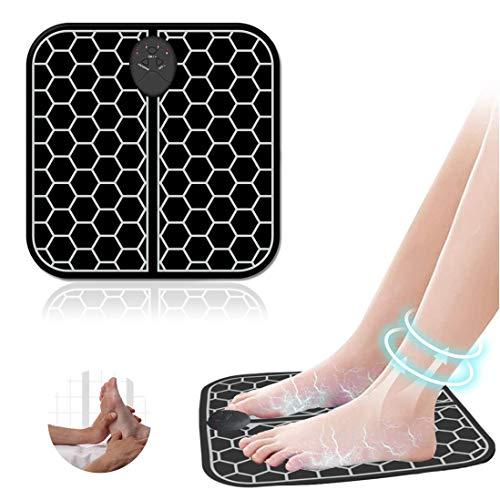 Masajeador de pies eléctrico EMS, Pulsos de Baja Frecuencia Estimulación Muscular Eléctrica, Cojín de Masaje de Pies Fisioterapia Inteligente para Mejorar la Circulación