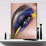 YuanMinglu Ojos de Colores Lienzo Arte de la Pared Pintura Decorativa Moderna Sala de Estar Mural decoración del hogar Pintura sin Marco 75X100CM