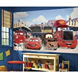 RoomMates JL1303M Disney Pixar Cars Friends To The Finish Water Activated Removable Wallpaper Mural - 10.5 ft. x 6 ft.