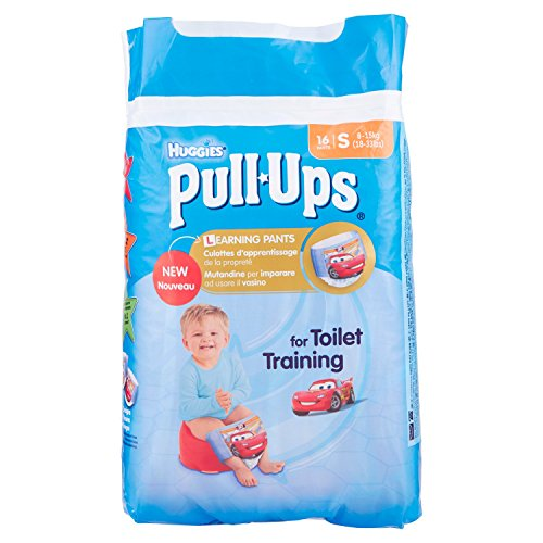 Huggies Pull Ups Pack de 16 culottes d'apprentissage - Taille S (8 – 15 kg)