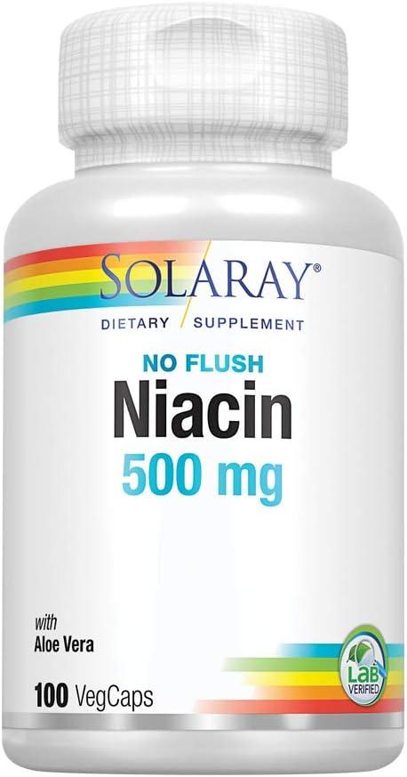 Solaray Niacin No Limited time cheap sale 2021 Flush 500mg Vitamin B-3 C for Healthy Skin