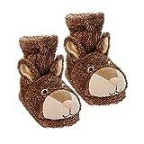 Aroma Home Shoes Fun For Feet Bunny, Women's Hi-Top Slippers, Brown (Brown), 7 UK (41 EU)