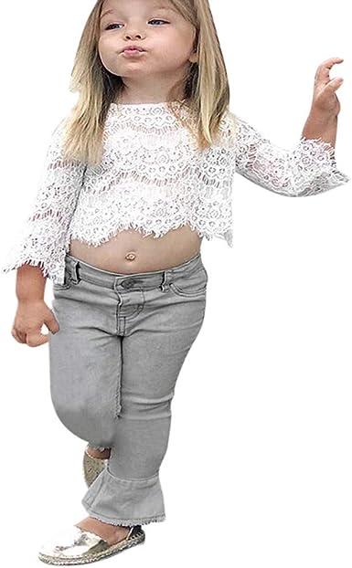 Traje de bebé para niñas Ropa bebé Camiseta de Encaje Top ...