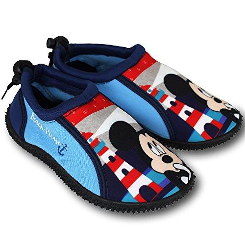 Wasserschuhe Kinder Disney Motiv- und Größenauswahl - Kinder Aquaschuhe - Badeschuhe - Strandschuhe - Surfschuhe (30, Mickey Mouse)