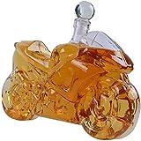 BAIHAO Decantador De Whisky De 750 Ml, Estilo De Motocicleta, Cristal De Mano, Jarra De Vino Tinto, Jarra De Whisky, Padre, Esposo, Apto para Todo Tipo De Vino