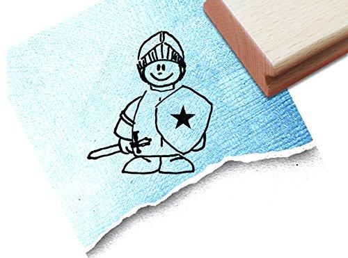 Stempel Kinderstempel Kleiner RITTER - Motivstempel Geschenk für Kinder Kita Kinderzimmer Schule Einschulung Schultüte Basteln - zAcheR-fineT