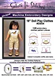 Sisters In Stitches Embroidery Designs 18' Doll Play Clothes - In the Hoop - Machine Embroidery Designs, purple,