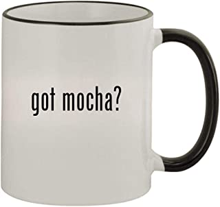 got mocha? - 11oz Colored Handle and Rim Coffee Mug, Black