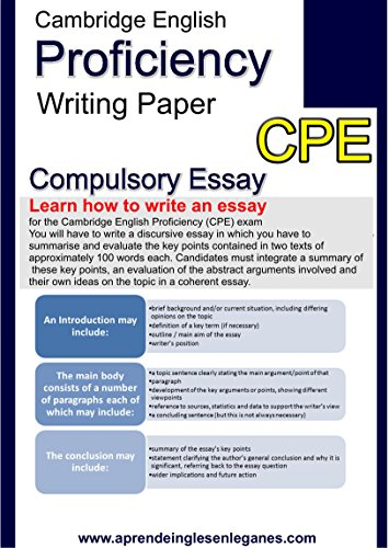 HOW TO WRITE AN ESSAY FOR THE CAMBRIDGE ENGLISH PROFICIENCY (CPE) EXAM (English Edition)