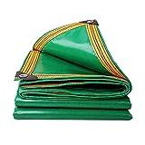 FUCNEN Bâche de protection robuste 100 % étanche et résistante aux intempéries-Bâche multifonction pour chenils poulaillers étangs de foin bûches de toit remorque d'extérieur tapis de sol vert 2x2M