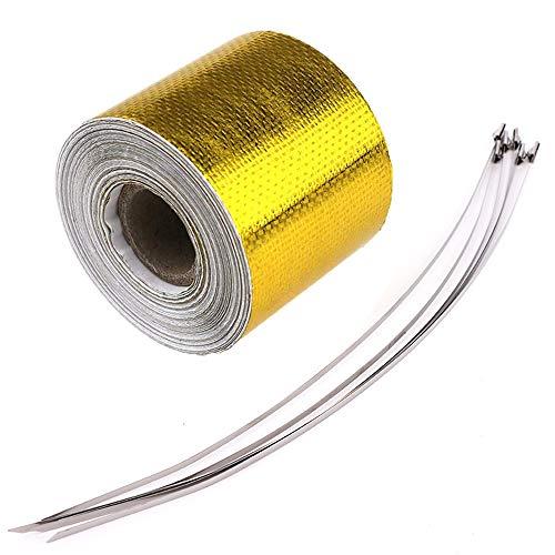 F Season 10m x 5cm Hitzeschutz Band selbstklebend Gold Tape Klebeband hitzeisolierend golden bis 450°C
