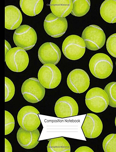 Composition Notebook Dot Grid Graph (.2' apart) 140 Page Book (7.44 x 9.69'): Tennis Ball Cover Design