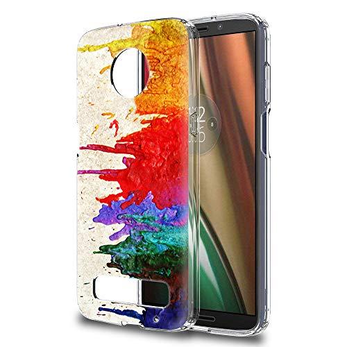 Yoedge Motorola Moto Z3 Play Hülle, TPU Silikon Transparent Schutzhülle Handyhülle mit Muster Motiv Case Ultradünn Stoßfest 360 Grad Bumper Weiche Cover für Moto Z3 Play - 6 Zoll, Bunt