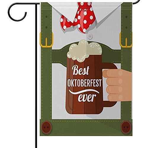 Tuinvlag Oktoberfest Denver Bier Fest Welkom Tuin Vlaggen Dubbele Zijde Cheers Man Met Bier Mok Gefeliciteerd Grappige Happy Hour Drinks Bier Party Outdoor Yard House Vlaggen Banner Voor Thuis Dec