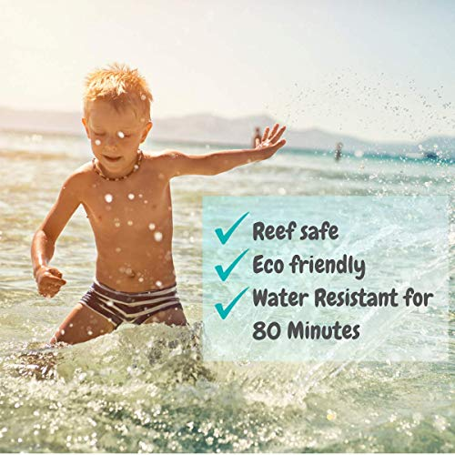 TotLogic Natural Mineral Sunscreen For Kids SPF 30, 3 oz | Biodegradable Reef Safe Zinc Oxide Organic Sunblock For The Whole Family | Hypoallergenic, Water Resistant