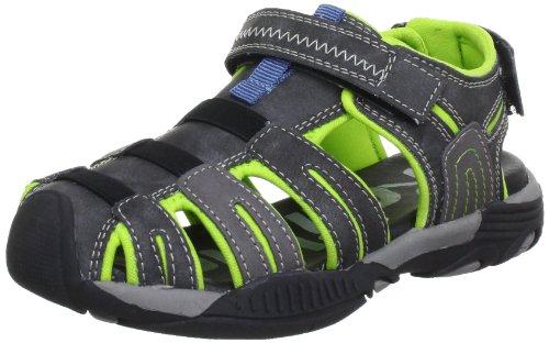 Romika Unisex-Kinder Jaron Sport- & Outdoor Sandalen Mehrfarbig (schwarz-neon 134) 32 EU