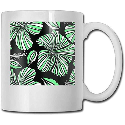 Tropische bloem hibiscus-patroon grappige koffiemok coole koffie theekop 11 oz perfect cadeau voor familie en vrienden