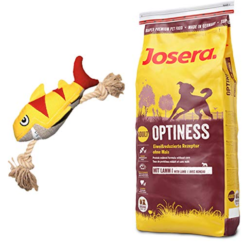 Josera 15 kg Optiness + Hundespielzeug Hai von Hunter