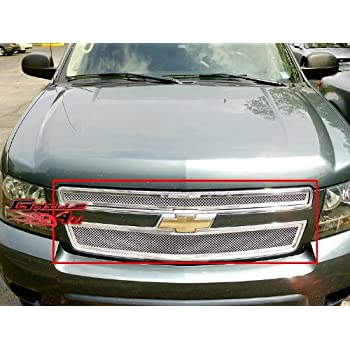 APS Compatible with 2007-2014 Tahoe Avalanche Suburban Bumper Mesh Grille Grill Insert S18-T76467C