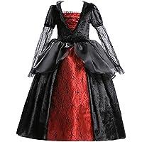 ELSA & ANNA® Princesa Halloween Disfraz Vampiro Traje Parte Las Niñas Halloween Vestido de Vampiro (Girls Princess Fancy Dress) ES-HAL-VAM01 (2-3 Años, HAL-VAM01)