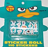 Disney Phineas and Ferb Sticker Roll (110 Stickers) by Disney