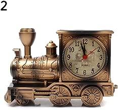 Best Quality Cartoon Locomotive Train Alarm Clock Antique Engine Design Table Desk Decor, Vintage Novelty Clock - Railroad Clock, Train Clock, Shop By Category, Train Clocks In Home Decor