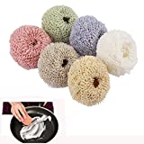 6 Pieces Nano Fiber Scratch Free Dish Scrubber Scourer Assorted Colors