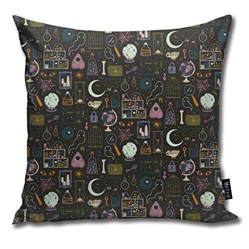 4 Stück Kissenbezug Haunted Attic Decor Kissenbezüge Dekokissenbezüge für Sofa und Couch 45x45 cm
