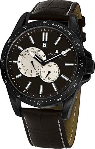 Jacques Lemans Herren Chronograph Quarz Uhr mit Leder Armband 1-1775E