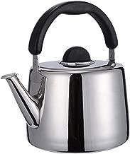 bouilloire anti-rouille et anti-br/ûlante Bouilloire de camping siffleur pour cuisini/ère /à gaz Th/éi/ère de sifflet en acier inoxydable 3L