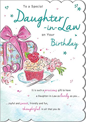 Birthday Card Daughter in Law - 9 x 6 inches - Regal Publishing