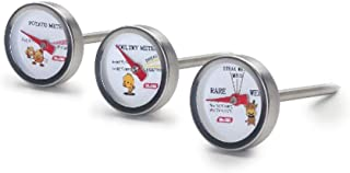 IBILI Set 3 Oven Thermometers, Stainless Steel White/Silver, 30 x 2.5 x 7 cm