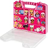 ASH BRAND Durable Figures Carrying CASE Storage Organizer | Fits Up to 50 Mini Toys Miniature Characters Or Tiny Bags & Baskets| Pink Toys Box with Compartments & Handle … (Secret Eyes)